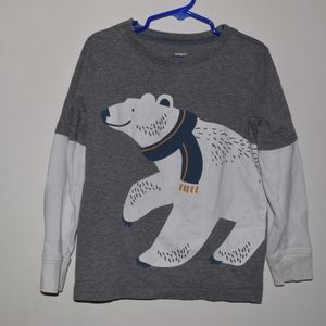 Carter's Long Sleeve Polar Bear Shirt, Size 6